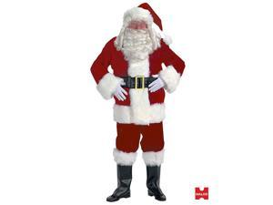 Velvet Santa Claus Suit Costume With FREE Wig and Beard!
