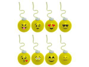 Emoji 16oz Krazy Koolers with Krazy Straw (Each - Assorted) - Party Supplies