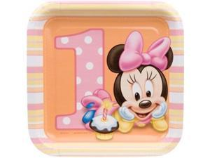 First Birthday Minnie Mouse Cake Plates - Party Supplies