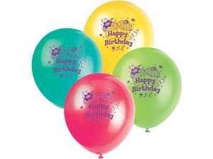 """Cupcake Party 12"""" Latex Balloons (8-pack) - Party Supplies"""