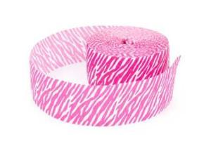 Hot Pink Zebra Print Party Streamer (each) - Party Supplies