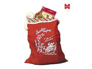 Red Merry Christmas Santa Toy Bag
