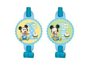 Mickey Mouse 1St Birthday Blowouts (8 Pack) - Party Supplies