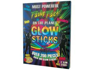 Glow Sticks Party Pack (Over 200 Pieces) - Party Supplies