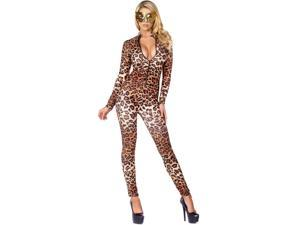 Adult Leopard Zip front Catsuit Sexy Costume