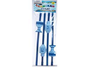 Hanukkah Straws (4 Pack) - Party Supplies