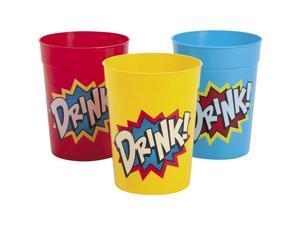 Superhero Plastic 10oz Tumblers (12 Pack) - Party Supplies