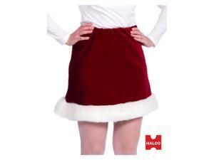 Red Velveteen Ms. Santa Skirt