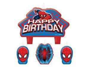 Spiderman Birthday Candle Set (4 Pack) - Party Supplies
