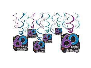 The Party Continues 60th Birthday Swirl Decorations - Party Supplies