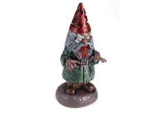 Zombie Garden Gnome - Silver/red