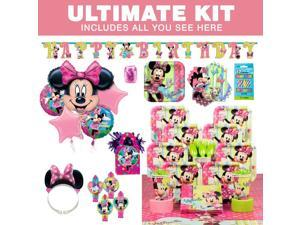 Minnie Birthday Party Ultimate Tableware Kit Serves 8 - Party Supplies