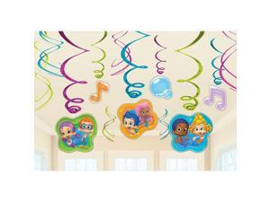 Bubble Guppies Foil Swirl Hanging Decorations (Each) - Party Supplies