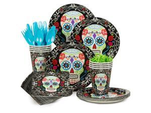 Day of the Dead Standard Tableware Kit Serves 18 - Party Supplies