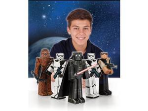 Star Wars Heroes and Villains Blueprints Paper Craft (5 Count) - Party Supplies