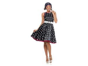 Black 50s Hot Dress Women's Costume