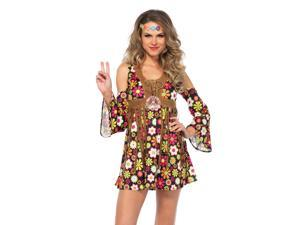 Adult Women's Sexy Starflower Hippie Dress Sexy Costume