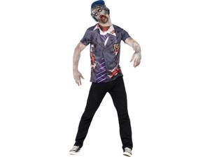 Adult Zombie Schoolboy T-Shirt and Cap with Sublimation Costume