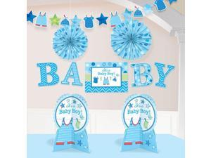 Shower With Love Baby Boy Room Decorating Kit (Each) - Party Supplies
