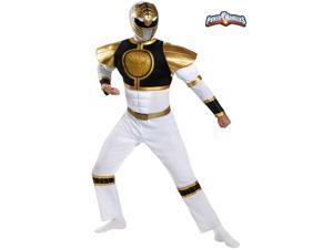Adult Power Ranger's White Ranger Classis Muscle Costume