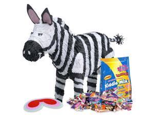 Zebra Pinata Kit - Party Supplies