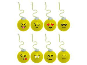 Emoji 16oz Krazy Koolers with Krazy Straw (Each - Assorted) - Party Supplies