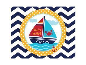 Ahoy Matey Party Invitations (8 Count) - Party Supplies