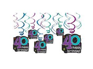 The Party Continues 40th Birthday Swirl Decorations - Party Supplies