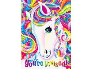 Neon Pony Lisa Frank Invitations (8 Pack) - Party Supplies