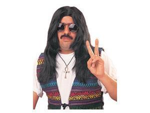 Adult Unisex Black Hippy Wig
