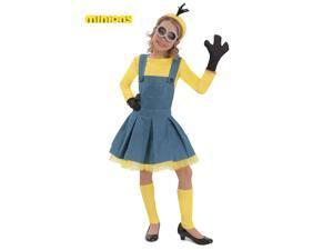 Deluxe Minion Girl Jumper Costume for Kids
