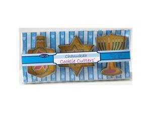 3 Hanukkah Metal Cookie Cutters - Party Supplies