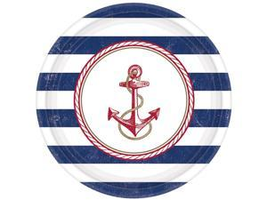 "Nautical 10.5"" Luncheon Plates (8 Count) - Party Supplies"