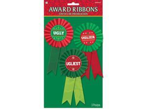 Ugly Sweater Contest Award Ribbons (3 Count)
