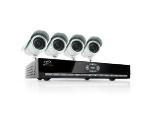 8 Channel H.264 Smart DVR Security System with Coaching iMenu and 4 Indoor/Outdoor Hi-Res CCD Night Vision Cameras