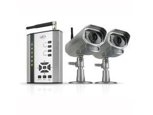 SVAT Digital Wireless DVR SD Card Security System 2 Night Vision Surveillance Cameras