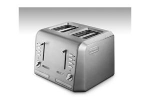 DeLonghi CTH4003 Silver 4 Slice Toaster