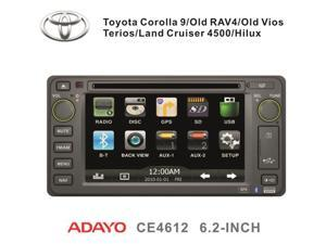 "Toyota Highlander 02-07 OEM Replacement In Dash Double Din 6.2"" LCD Touch Screen Multimedia GPS Navigation Radio 2002-2007 [Adayo]"