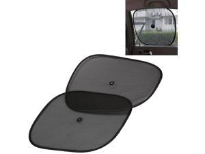 2pc - Collapsible Black Mesh Window Sunshade Fits Most Cars & Trucks