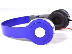 Blue DJ Style Stereo Over Ear Headphones with Quality Sound for 3.5mm Jack