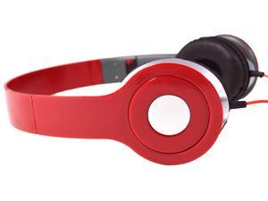 Red DJ Style Stereo Over Ear Headphones with Quality Sound for 3.5mm Jack