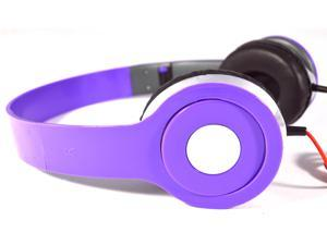 Purple DJ Style Stereo Over Ear Headphones with Quality Sound for 3.5mm Jack