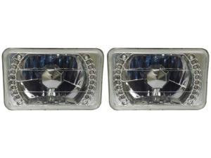 4x6 Euro LED Clear Glass Sealed Beam Conversion Headlights 4656/4651/4666