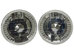 "5 3/4"" Round Crystal Clear LED Sealed Beam Conversion headlights H5006 H5506"