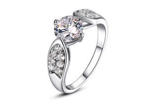 Cubic Zirconia Crsytal Stone Classy Fashion Engagement Ring size 8