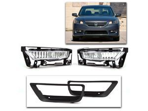 Brand New Fog Lights with Brackets, Bezel, Harness, Switch, and Hardware for the Honda Accord Sedan 2013 2014 2015