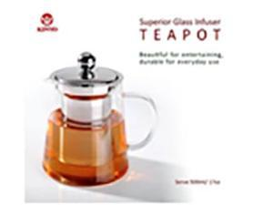 KinyoSuperior Glass Infuser Teapot 500ml/17oz