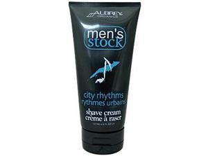 Aubrey Organics, Men's Stock, City Rhythms Shave Cream, 6 fl oz (177 ml)