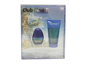 Club Med My Ocean Cologne - Gift Set for Men - EDT Spray 0.33 Oz + Hair & Body Wash 1.8 Oz