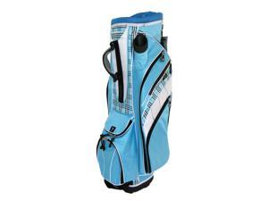 Powerbilt Dynasty Cart Bag - Blue/White Plaid